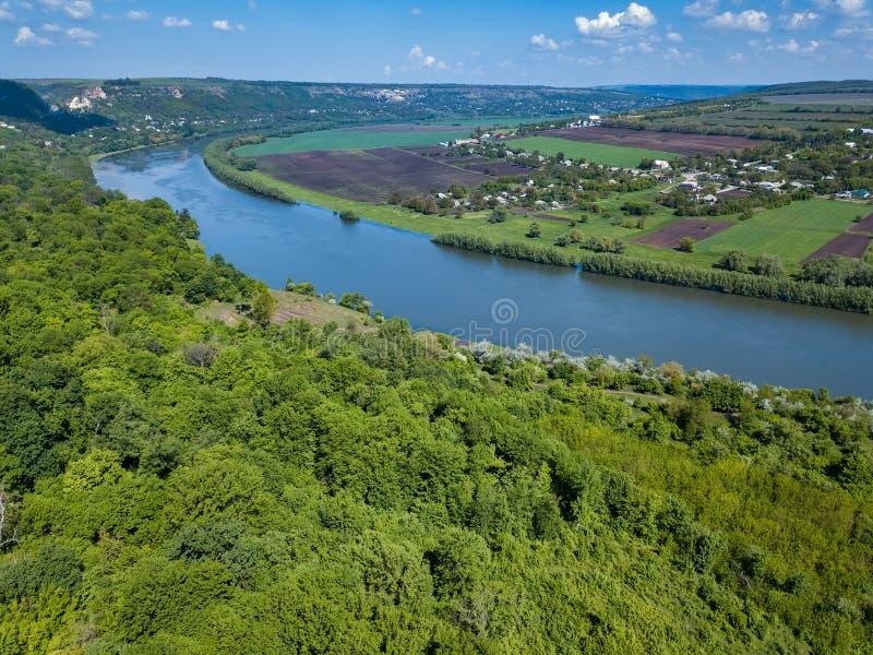 摩尔多瓦,高处空中射击奇迹河 免版税图库摄影