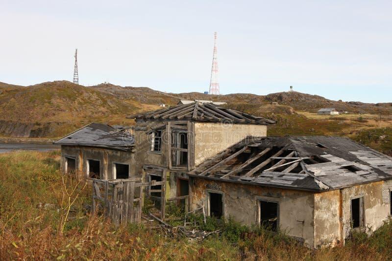 摩尔曼斯克俄罗斯北部被放弃的区域俄罗斯联邦 库存照片