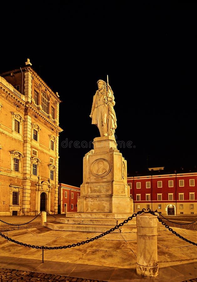摩德纳公爵的宫殿在摩德纳,意大利 免版税库存照片