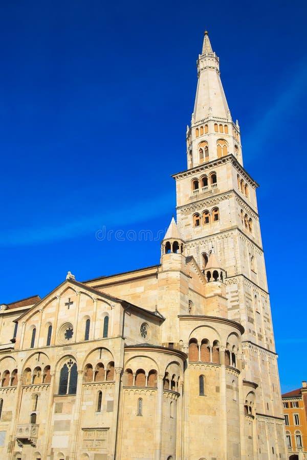 摩德纳主教座堂,联合国科教文组织世界遗产在摩德纳,意大利 库存图片