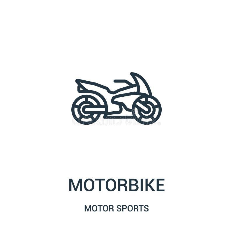摩托车从汽车竞赛汇集的象传染媒介 稀薄的线摩托车概述象传染媒介例证 r 库存例证