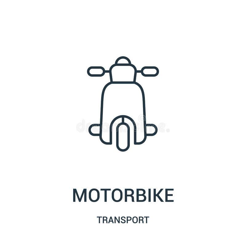 摩托车从运输汇集的象传染媒介 稀薄的线摩托车概述象传染媒介例证 库存例证