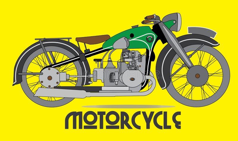 摩托车传染媒介, Motorbiker,运输 库存例证