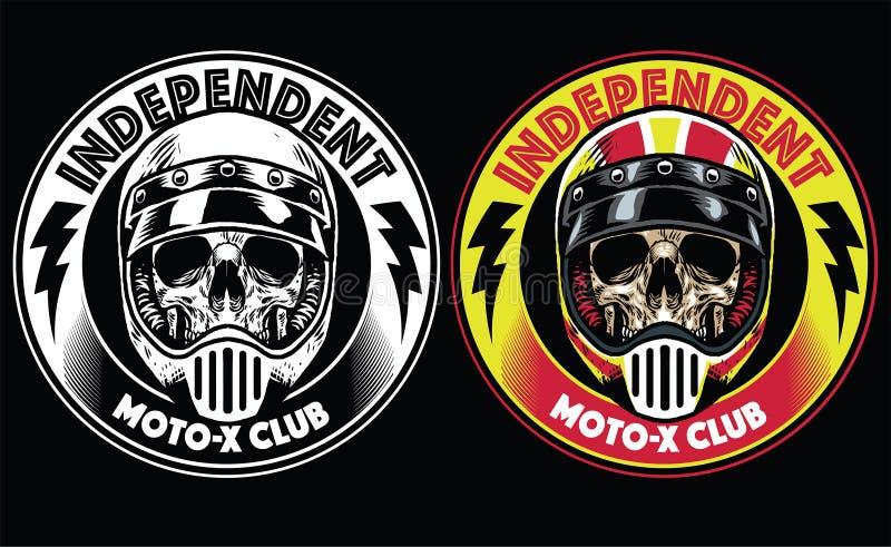 摩托车俱乐部徽章 皇族释放例证