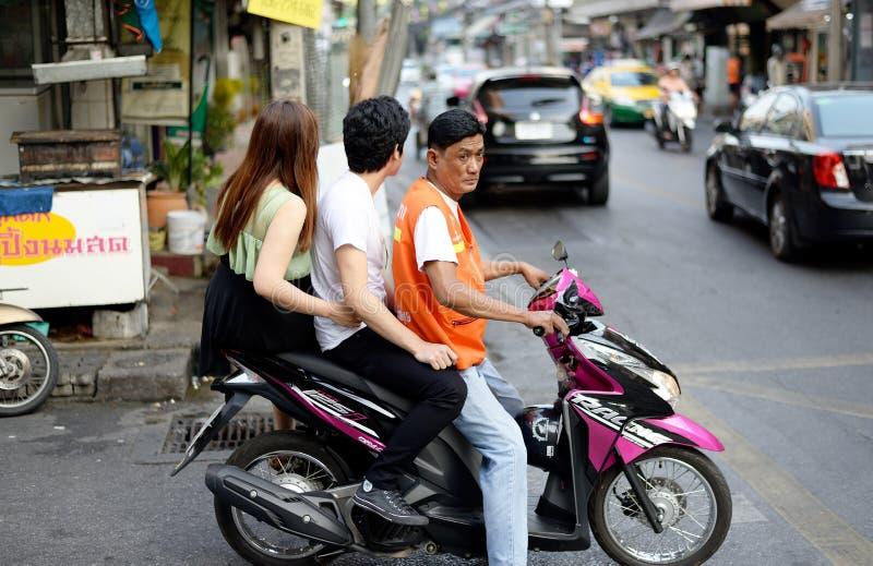 摩托车出租汽车,曼谷,泰国 库存照片