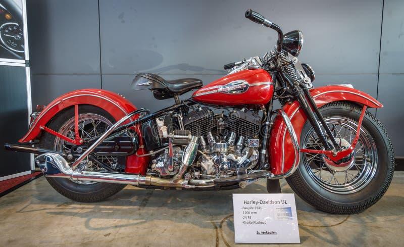 摩托车哈利戴维森模型UL, 1941年 免版税图库摄影