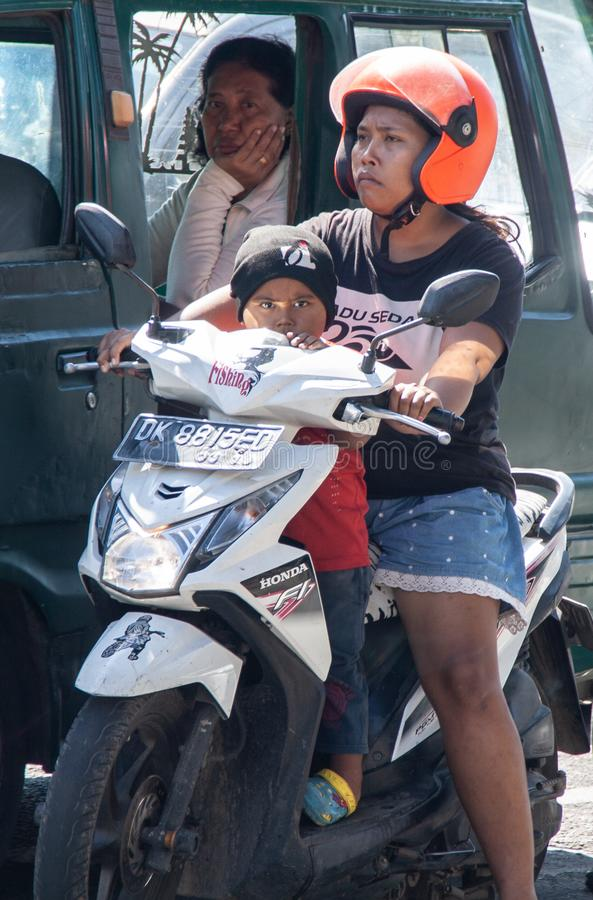 摩托车在巴厘岛 库存照片
