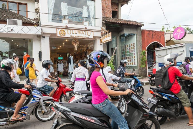 摩托车在Ubud 免版税库存照片