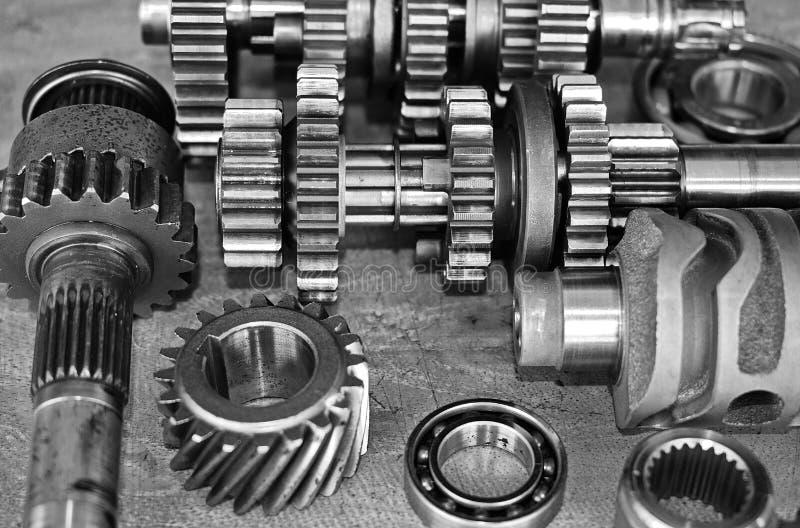摩托车引擎齿轮  免版税库存照片