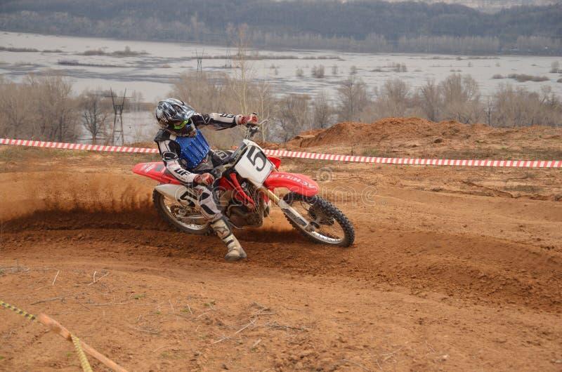 摩托车正确的滑行清单轮 库存图片