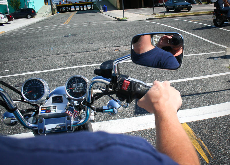 从摩托车的看法 库存照片