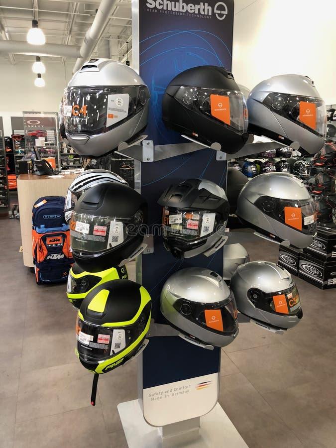 摩托车盔甲 库存照片