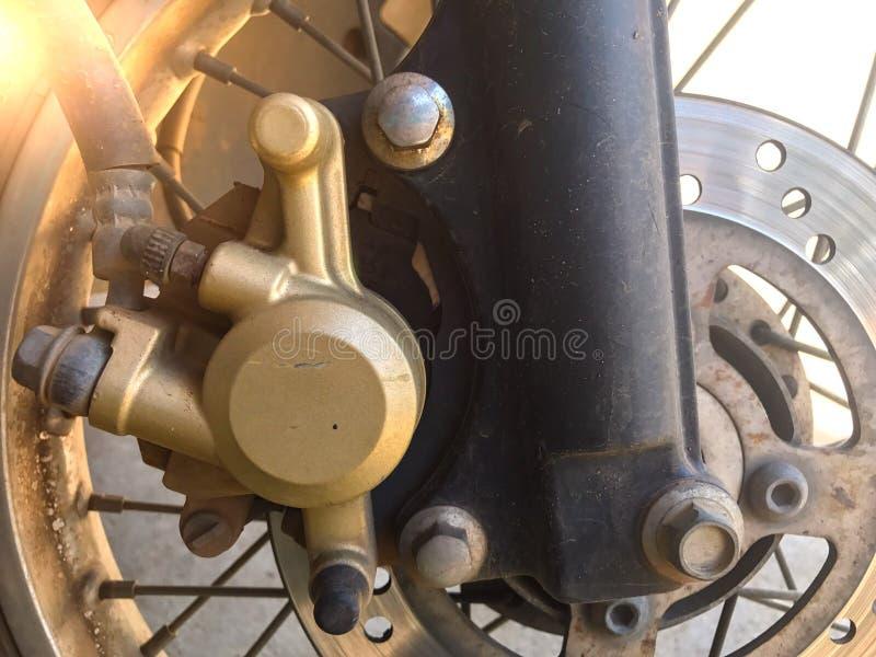 摩托车盘式制动器 库存照片
