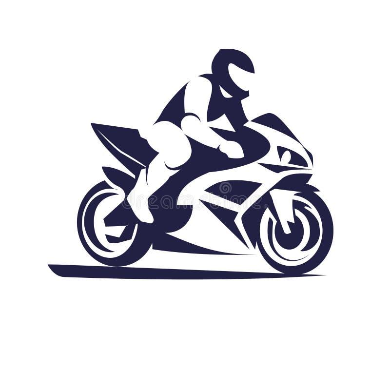 摩托车竟赛者体育 库存例证