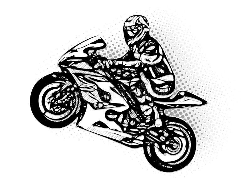 摩托车竟赛者 向量例证
