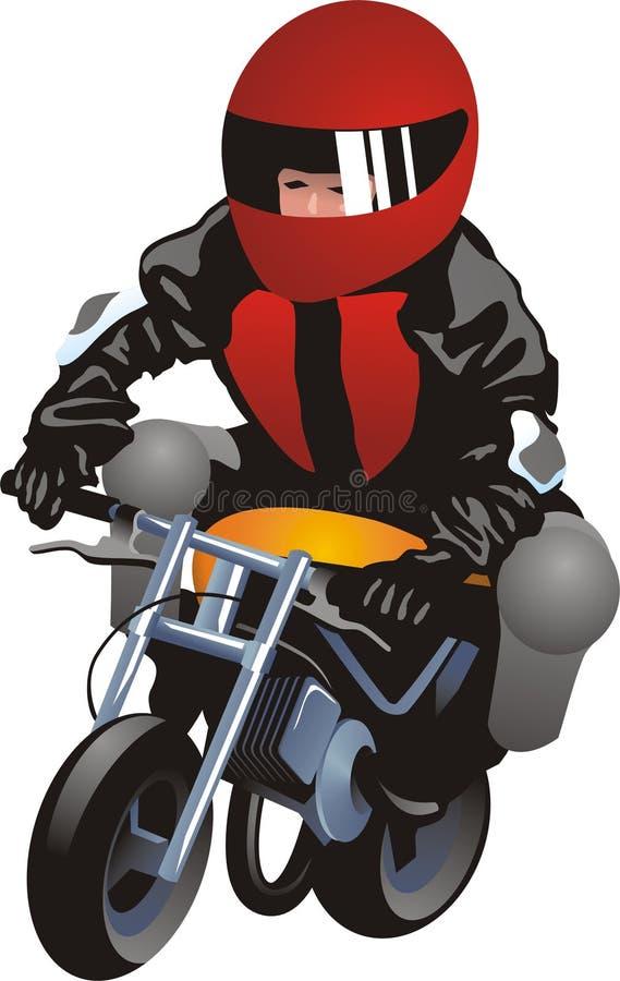 摩托车竟赛者 皇族释放例证