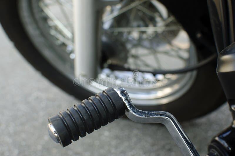 摩托车脚蹬 库存照片