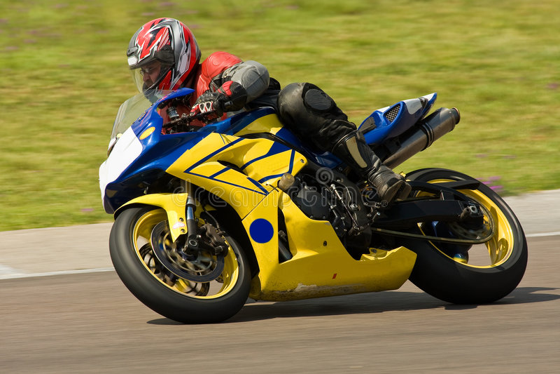 摩托车赛跑 免版税库存图片