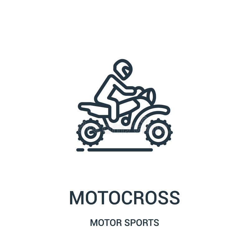 摩托车越野赛从汽车竞赛汇集的象传染媒介 稀薄的线摩托车越野赛概述象传染媒介例证 r 库存例证