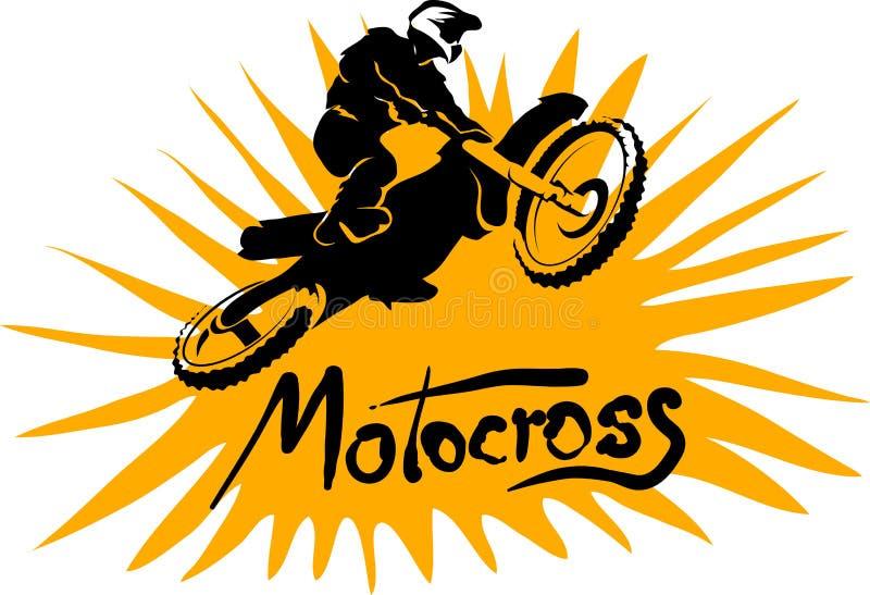 摩托车越野赛传染媒介图片 皇族释放例证