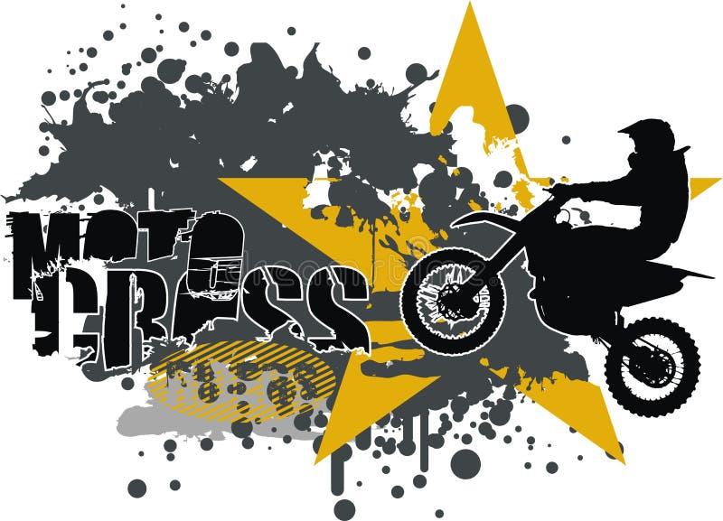 摩托车越野赛向量 皇族释放例证