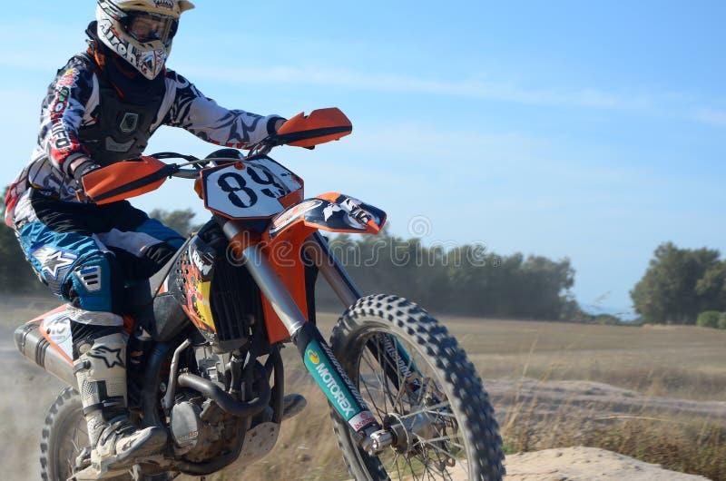 摩托车越野赛意大利Sardegna 图库摄影