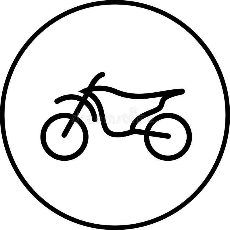 摩托车越野赛摩托车象 向量例证