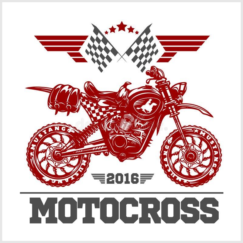 摩托车越野赛比赛象征 库存例证