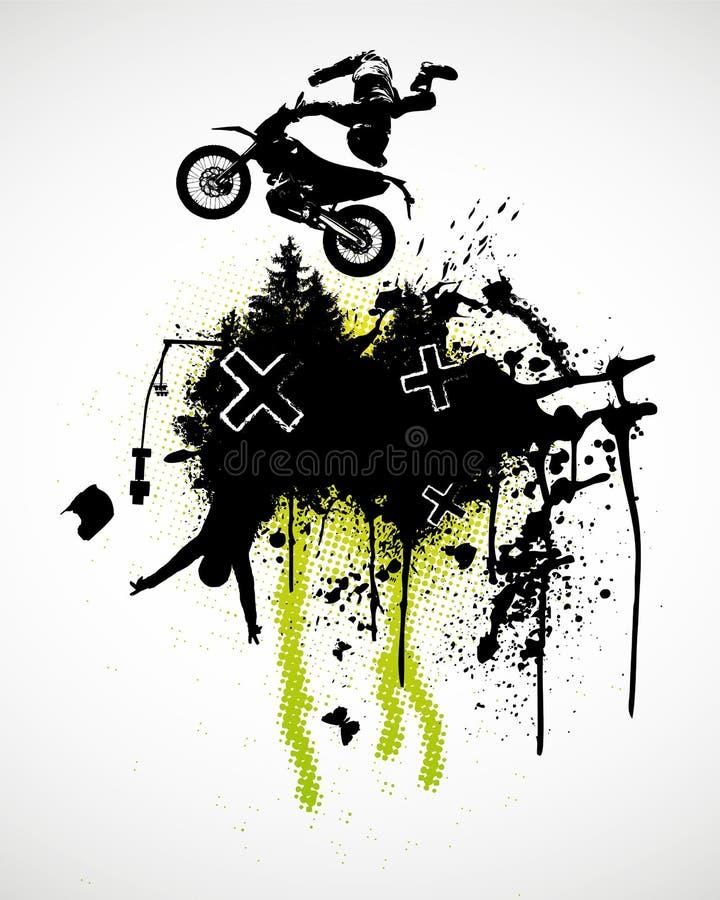 摩托车越野赛海报 库存例证