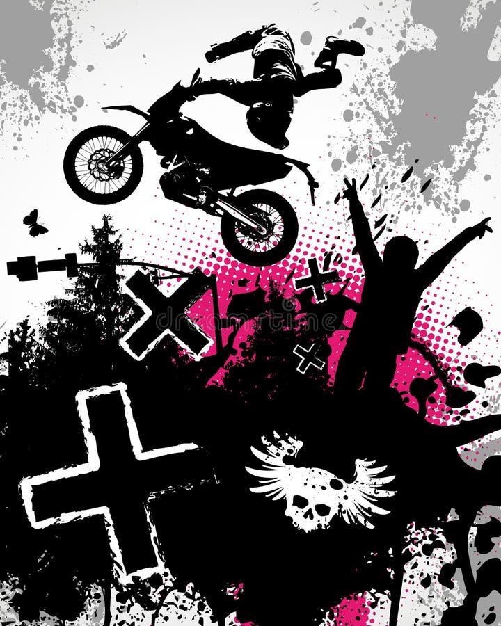 摩托车越野赛海报 向量例证