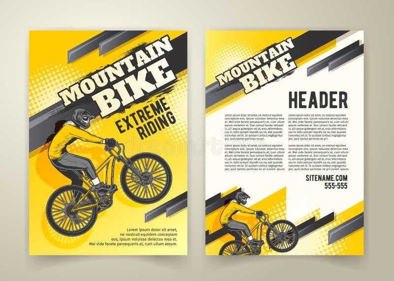 摩托车越野赛竞争抽象海报  向量例证