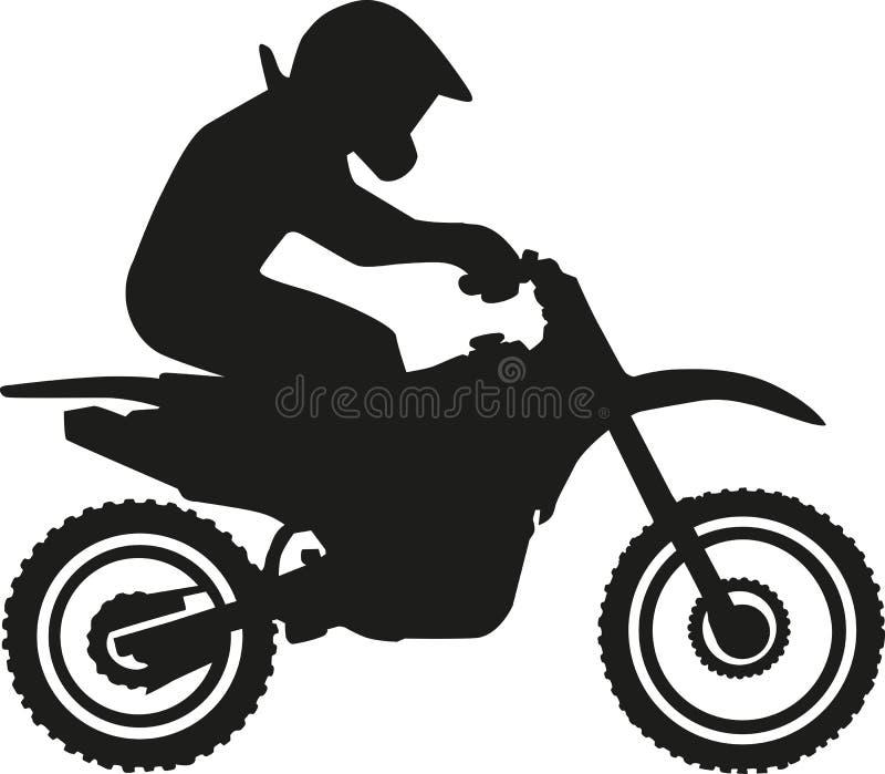 摩托车越野赛竟赛者 向量例证