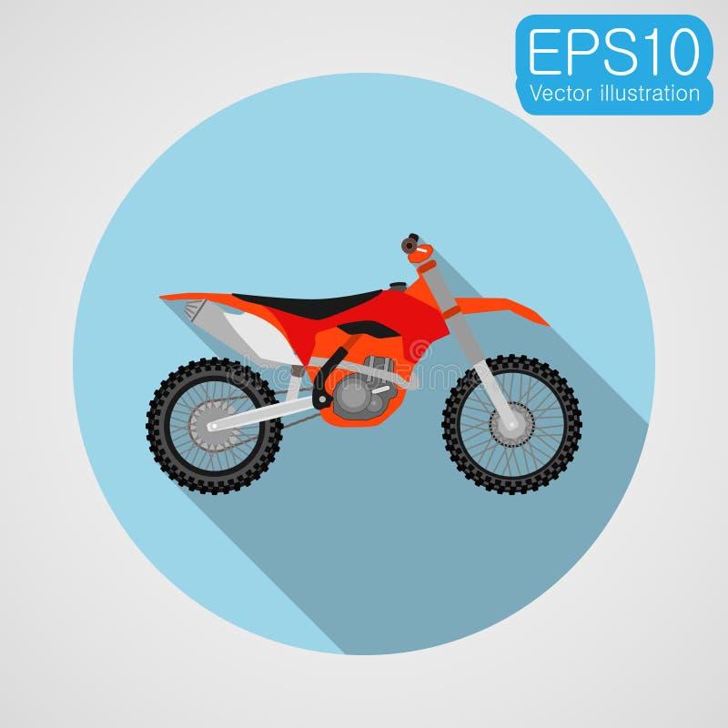 摩托车越野赛自行车象 皇族释放例证