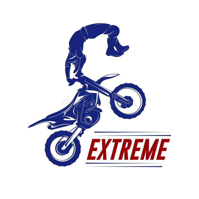 摩托车越野赛跃迁商标传染媒介 摩托车越野赛自由式传染媒介 摩托车越野赛传染媒介例证 向量例证