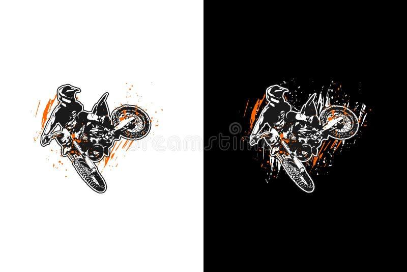 摩托车越野赛跳跃 库存例证