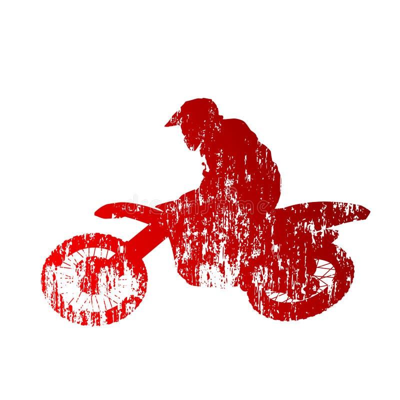 摩托车越野赛车手 向量例证