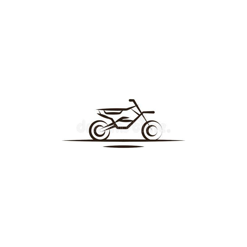 摩托车越野赛,沙漠象 沙漠象的元素流动概念和网apps的 递凹道摩托车越野赛,沙漠象能为w使用 库存例证