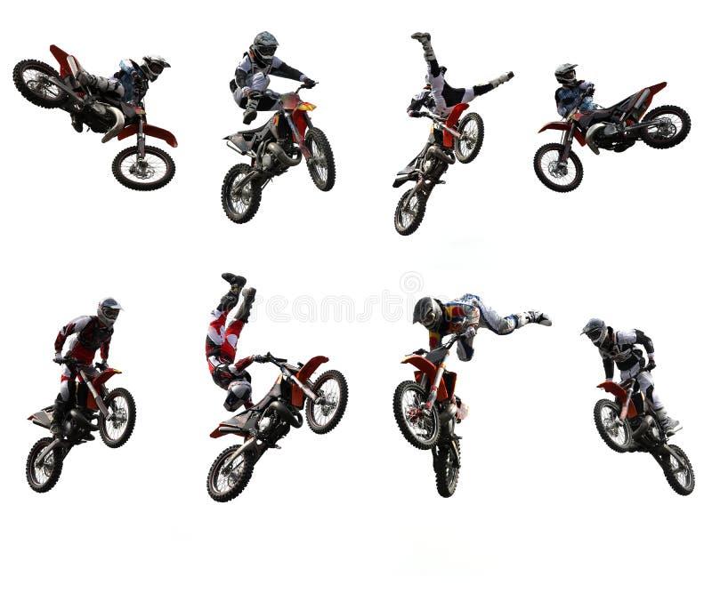 摩托车越野赛 库存例证