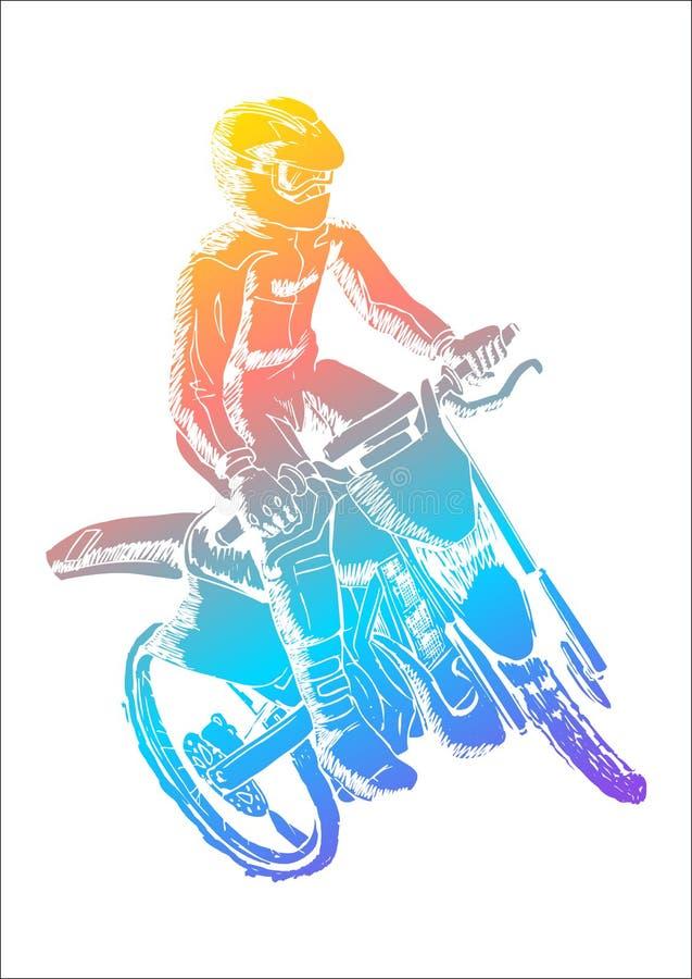 摩托车越野赛 皇族释放例证