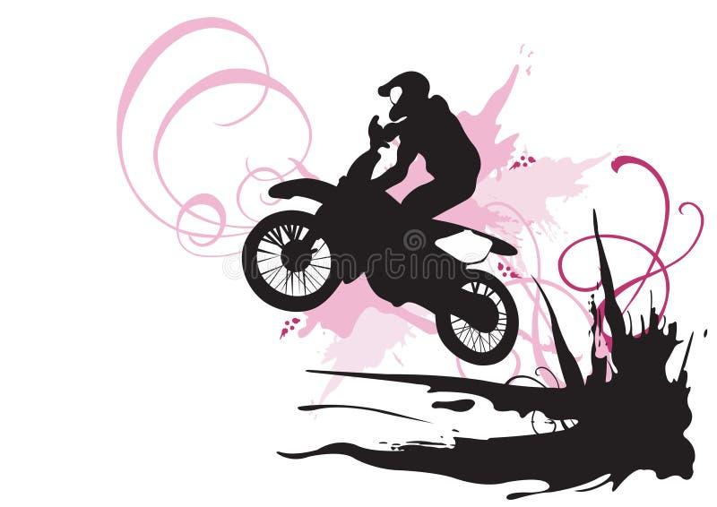 摩托车越野赛 向量例证