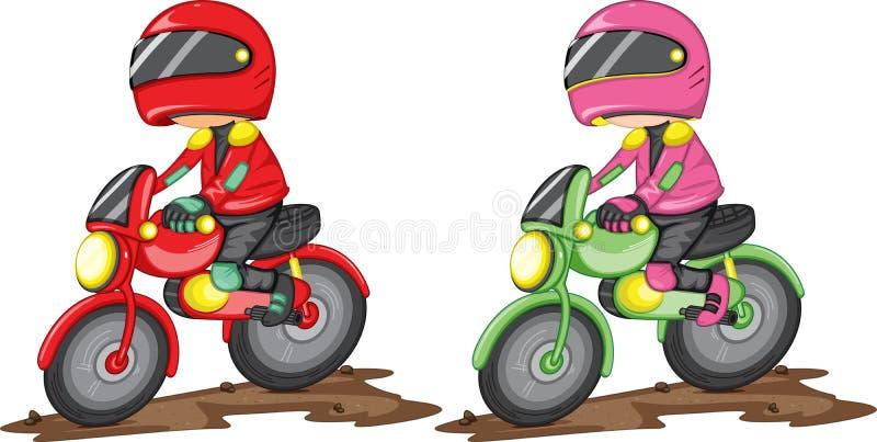 摩托车车手 皇族释放例证