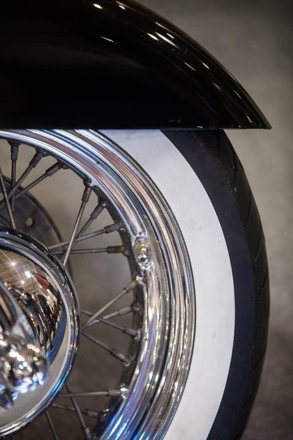 摩托车轮子细节 库存图片