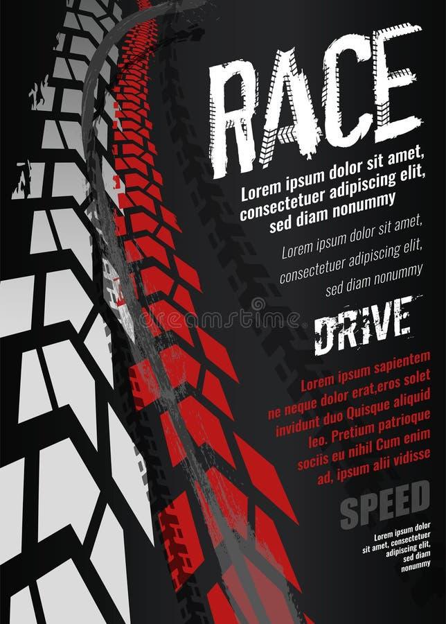 摩托车轮胎海报 皇族释放例证