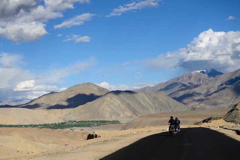摩托车远征,印度 免版税库存图片