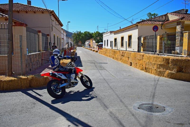 摩托车道路赛车 免版税库存图片