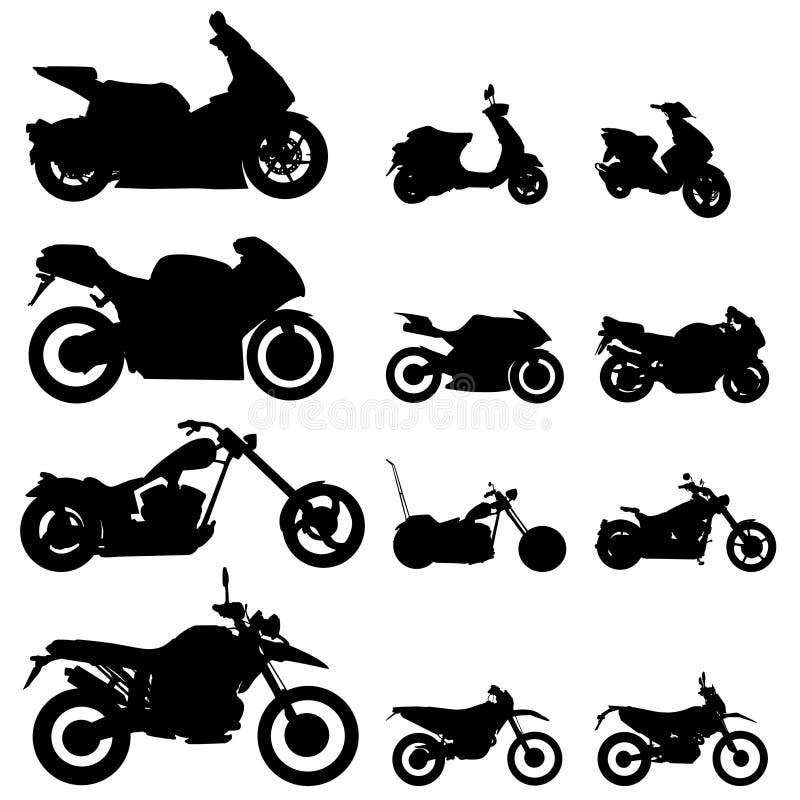 摩托车集合向量 皇族释放例证