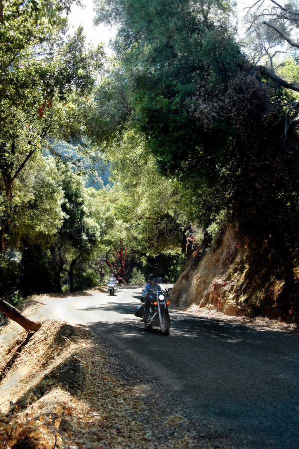 摩托车骑马 免版税图库摄影