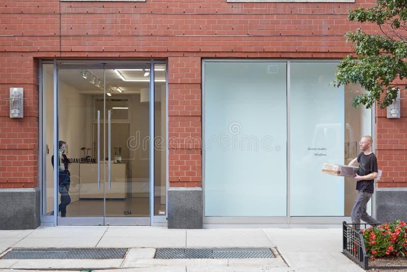 摩根雷曼画廊外视图在切尔西,纽约 免版税库存图片