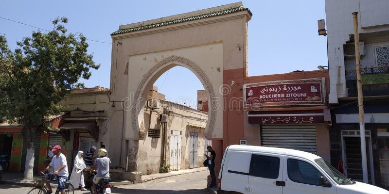 摩洛哥乌伊达梅迪纳主入口 免版税库存图片