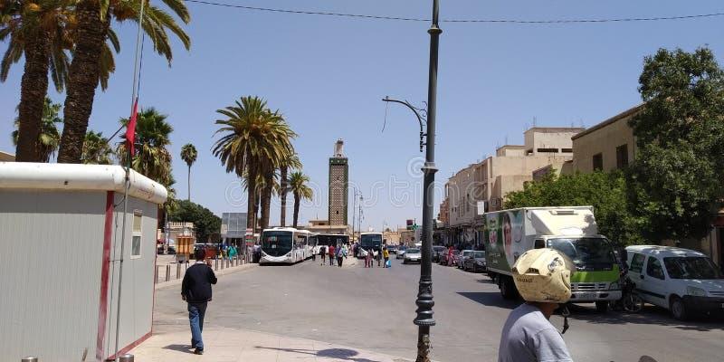 摩洛哥乌伊达街道 免版税库存照片